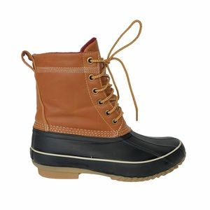 Aldo Ankle Duck Boots Brown 7